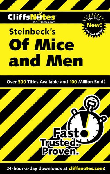 Download CliffsNotes on Steinbeck s Of Mice and Men Book