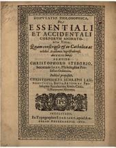 De Essentiali Et Accidentali Corporum Animatorum Vita