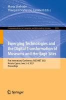 Emerging Technologies and the Digital Transformation of Museums and Heritage Sites PDF