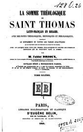 La Somme théologique de Saint Thomas: Volume6