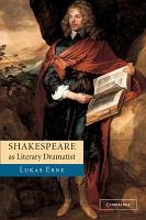 Shakespeare as Literary Dramatist PDF