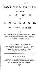 Commentaries on the Laws of England: In Four Books, Volume 4