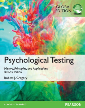 Psychological Testing  History  Principles  and Applications  Global Edition PDF