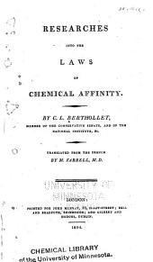 Researches Into the Laws of Chemical Affinity
