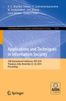 Applications and Techniques in Information Security PDF