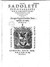 Iac. Sadoleti,... de Regno Vngariae ab hostibus Turcis oppresso, et capto homilia