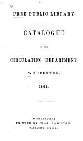 Catalogue of the Circulating Department: Addenda, 1867