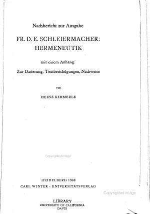 Hermeneutik Nachbericht PDF