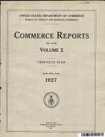 Commerce Reports Nos 14 26 Volume 2 Thirtieth Year April May June 1927 PDF