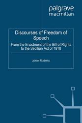 Discourses Of Freedom Of Speech Book PDF