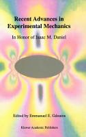 Recent Advances in Experimental Mechanics PDF