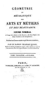 Géométrie et méchanique des arts et métiers et des beaux-arts: Volume3