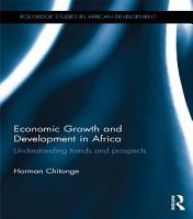 Economic Growth and Development in Africa PDF