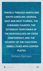 Travels Through North and South Carolina PDF