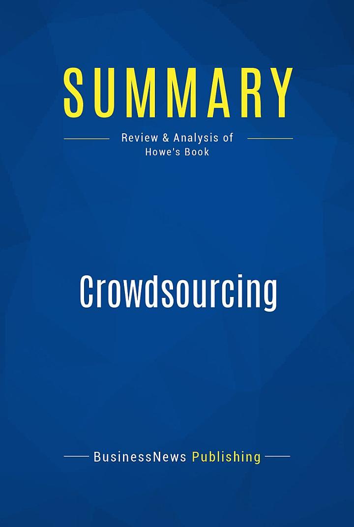 Summary: Crowdsourcing