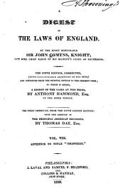 A Digest of the Laws of England: Volume 8