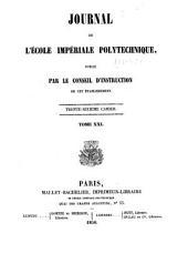 Journal de l'École polytechnique: Volume21,Numéros36à37