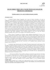 Lignes directrices de l'OCDE pour les essais de produits chimiques, Section 4 Essai n° 439 : Irritation cutanée in vitro Essai sur épiderme humain reconstitué: Essai sur épiderme humain reconstitué