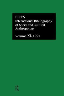 Bibliographie Internationale D anthropologie Sociale Et Culturelle 1994 PDF