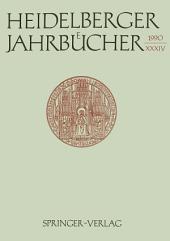Heidelberger Jahrbücher: Band 34