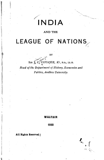 India and the League of Nations PDF