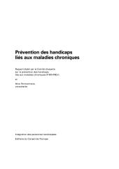 Prévention des handicaps liés aux maladies chroniques