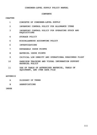 Consumer level Supply Policy Manual PDF