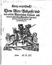 Kurzes verzeichniß vom Alter, Ankunft ... der ... Freyherrn auf Tautenburg ...