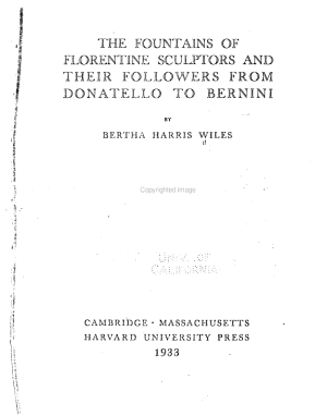 The Fountains of Florentine Sculptors and Their Followers  from Donatello to Bernini PDF