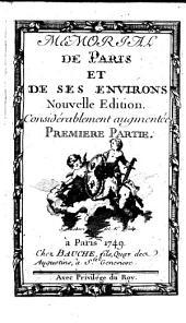 Memorial de Paris et de ses environs: Partie1