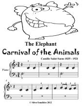Elephant Carnival of the Animals - Beginner Piano Sheet Music Tadpole Edition