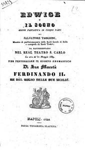 Edwige o Il sogno azione fantastica in cinque parti di Salvatore Taglioni
