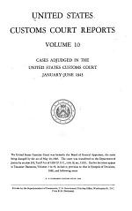 United States Customs Court Reports
