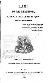 L'Ami de la religion: Volume118