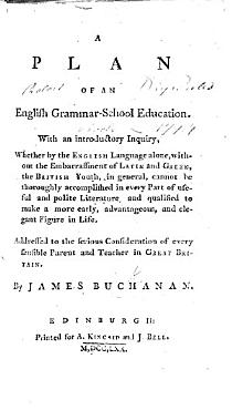 A Plan of an English Grammar School Education  With an introductory inquiry  whether by the English language alone     the British youth  in general  cannot be thoroughly accomplished in every part of useful and polite literature  etc PDF