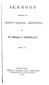 Sermons Preached at Trinity Chapel, Brighton: Volume 2