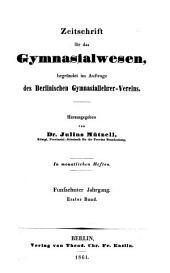 Sokrates; Zeitschrift für das Gymnasialwesen: Band 15