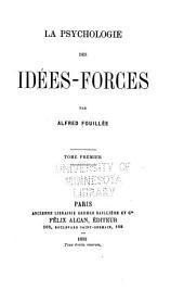 La psychologie des idées-forces: Volume1