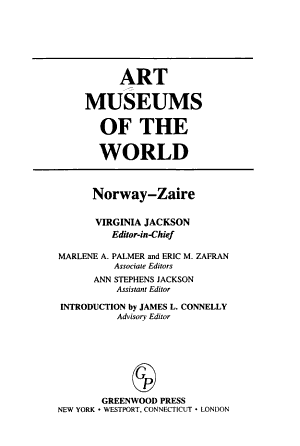 Art Museums of the World PDF