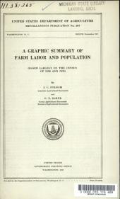 A Graphic Summary of Farm Labor and Population: Based Largely on the Census of 1930 and 1935