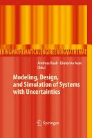 Modeling  Design  and Simulation of Systems with Uncertainties PDF