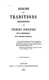 Analyse des traditions religieuses des peuples indigènes de l'Amérique, par Adolphe Kastner