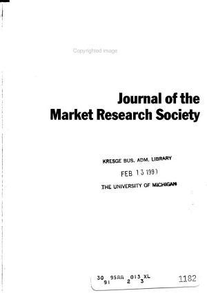 Journal of the Market Research Society PDF