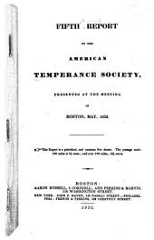 Report of the American Temperance Society