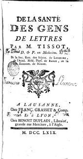De la sante des gens: de lettres