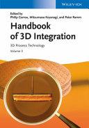 Handbook of 3D Integration PDF