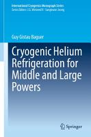 Cryogenic Helium Refrigeration for Middle and Large Powers PDF