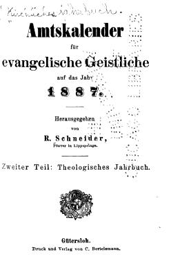 Kirchliches Jahrbuch f  r die evangelische Kirche in Deutschland PDF