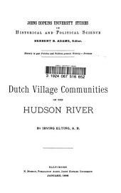 Dutch Village Communities on the Hudson River