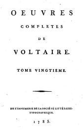 Œuvres completes de Voltaire: Volume20